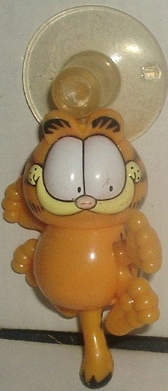 "GARFIELD the Movie suction cup window toy 4"", Wendy's"