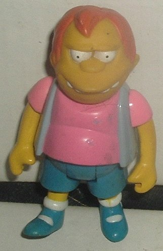 SIMPSONS Bart Simpson friend (?) Poseable figure 3.5""