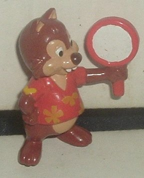 "CHIP or DALE (?) PVC Figure with mirror 2"", Disney"