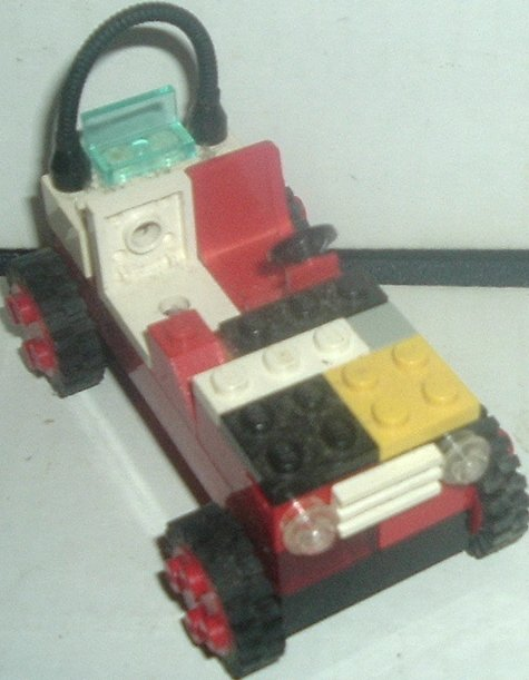 LEGO Part Vehicle open Car red