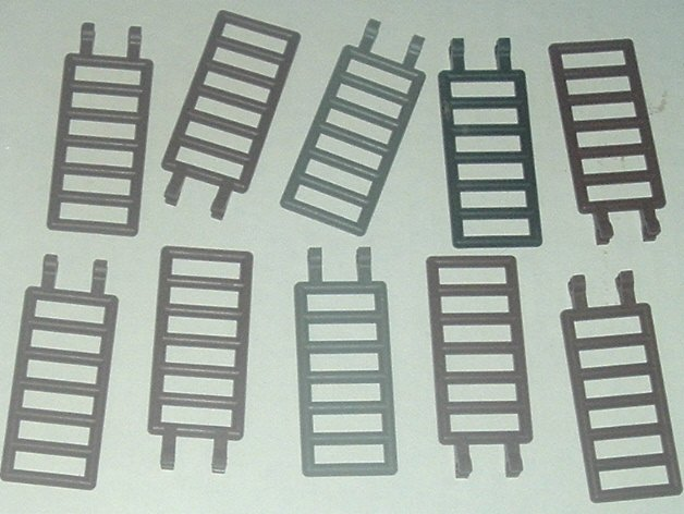 LEGO Parts lot of 10 Bar 7x3 w/Double Clips most brown