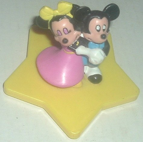 MICKEY MOUSE & MINNIE dancing PVC Figure on base Disney