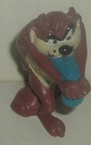"Looney Tunes TAZ DEVIL PVC Figure w/blue tongue 1.75"" - Click Image to Close"