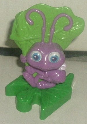 "BUG'S LIFE PVC Figure purple ant (?) 3.25"" Disney McD McDonalds"