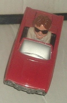 THUNDERBIRDS Man/red car McDonald Disney Happy Meal Toy