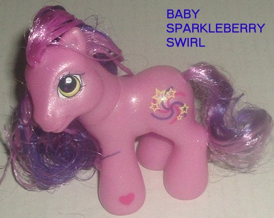 G3 My Little Pony MLP BABY SPARKLEBERRY SWIRL