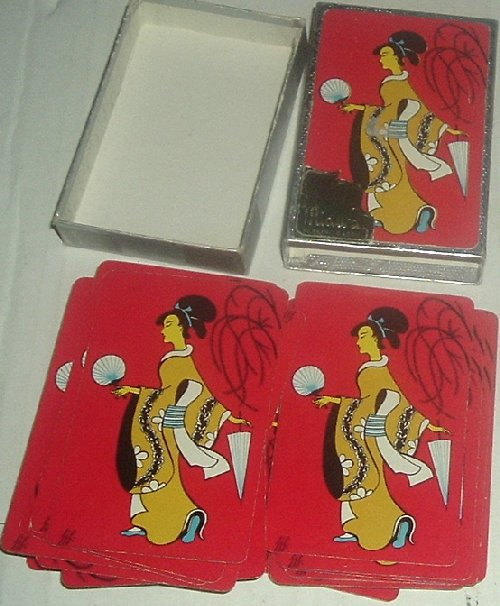 1 Deck Midway JAPANESE LADY red playing cards