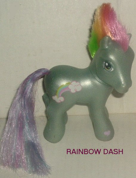 G3 Hasbr My Little Pony MLP RAINBOW DASH punk look OOAK