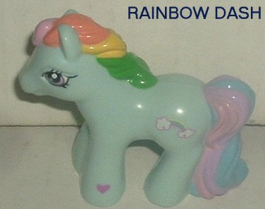 G3 My Little Pony MLP RAINBOW DASH plastic small figure