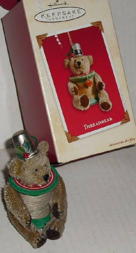 2002 Hallmark Ornament THREADBEAR bear in Box