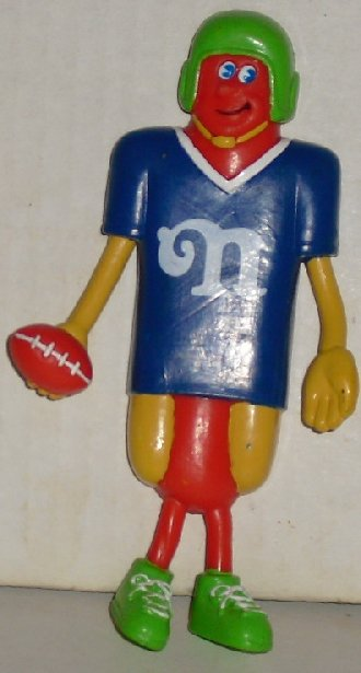 Nathan HOTDOG Hot Dog Frankster Bendy Figure Football