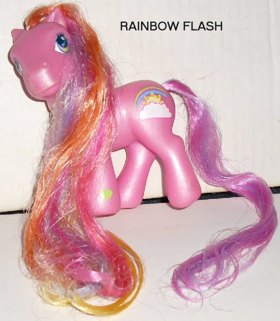 G3 Hasbro My Little Pony MLP RAINBOW FLASH w/long hair