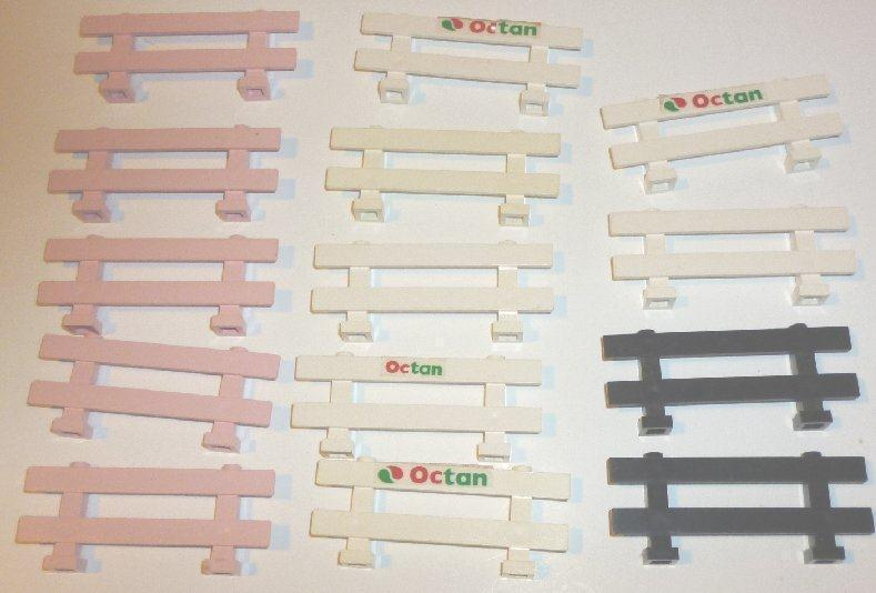 LEGO Parts Lot of 14 Fences 1x8x2 white, pink, & black