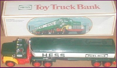 1984 HESS Gasoline Toy Truck Bank MIB