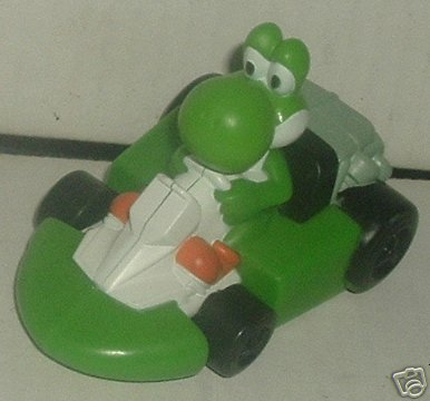 "Super Mario Bros green YOSHI car Toy 3.5"", Burger King"